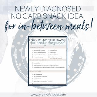 Newly Diagnosed No Carb Snacks